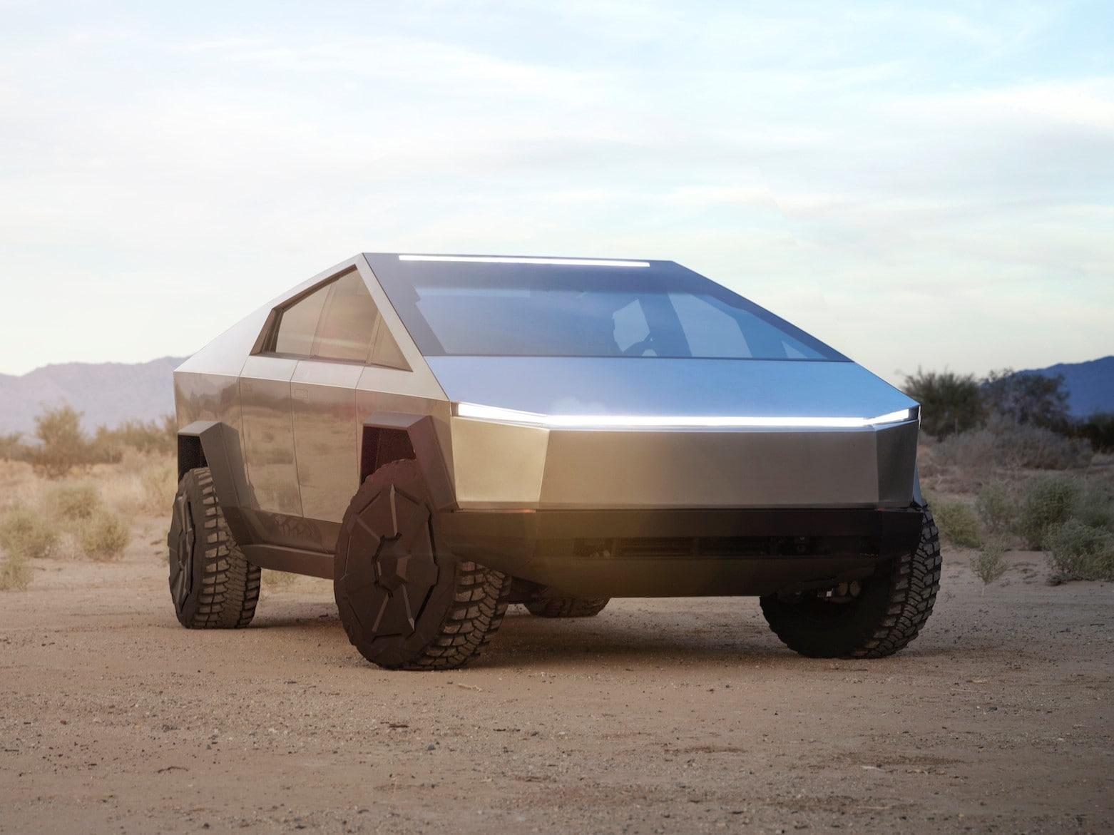 Cybertruck har ingen Tesla branding