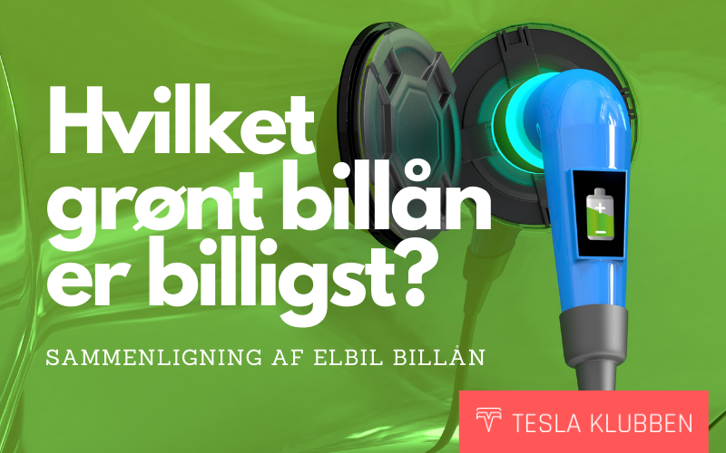 GUIDE Grønt billån - Hvilket elbil billån er billigst?